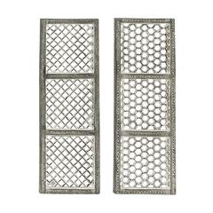 "Mesh Design Wood Metal Wall Panel 2 Assorted 12""W, 36""H"