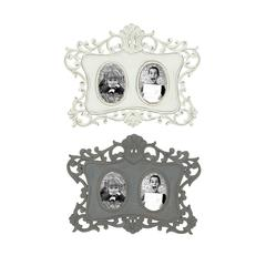 Benzara Classy Vintage Themed Set Of 2 Wooden Wall Photo Frames