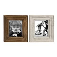 Benzara Chic Wood Photo Frame 2 Assorted