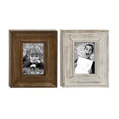 "Benzara Classy Wood Photo Frame 2 Assorted 10""W, 11""H"