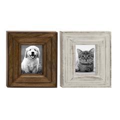 "Benzara Classy Wood Photo Frame 2 Assorted 10""W, 12""H"