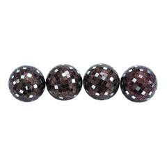 Benzara Attractive Copper Mirror Mosaic Ball Set Of Four