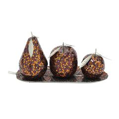 Wow! Set Of 4 Metal Mosaic Fruit