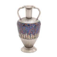 Benzara The Dashing Metal Mosaic Color Vase