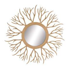 Benzara The Real Cool Metal Sunburst Mirror
