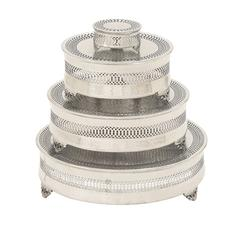 Benzara Perfect And Grand Metal Cake Plate Set Of 4
