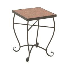 Benzara Classy Metal Red Mosaic Side Table