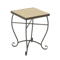 Gorgeous Metal Gold Mosaic Side Table