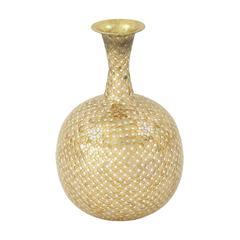 Uniquely Styled Metal Mosaic Vase