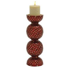 Elegant Metal Mosaic Candle Holder