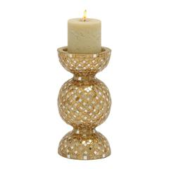 Benzara Stunning Metal Mosaic Candle Holder