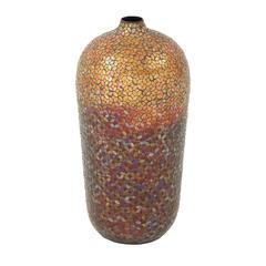 Benzara Enthralling Metal Mosaic Vase
