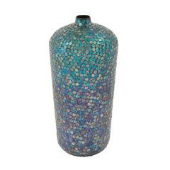 Benzara Enticing Metal Mosaic Vase