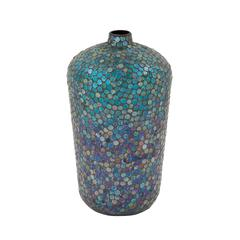 Gorgeous Metal Mosaic Vase