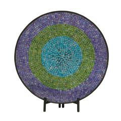 Attractive Metal Mosaic Platter With Easel