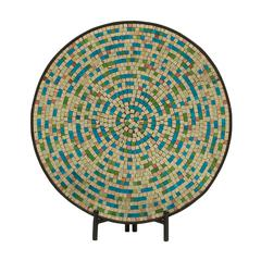 Classic Metal Green Mosaic Platter With Easel