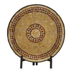 Beautiful Metal Mosaic Platter With Stand