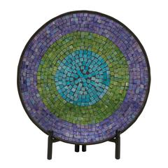 Appealing Metal Mosaic Platter With Stand