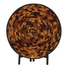 Charming Metal Mosaic Platter With Stand