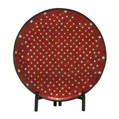Alluring Metal Mosaic Platter With Stand