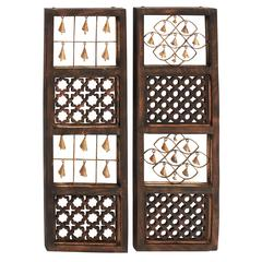 Benzara Simply Brilliant Wood Bell Wall Panel 2 Assorted