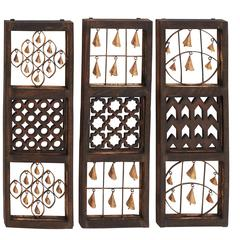 Unique Wood Bell Wall Panel 3 Assorted