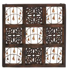 Spiritual And Timeless Wood Bell Wall Panel