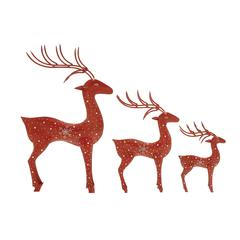 Benzara Fabulous Set Of 3 Metal Reindeer