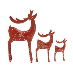 Benzara Stylishly Designed Set Of Three Metal Deer