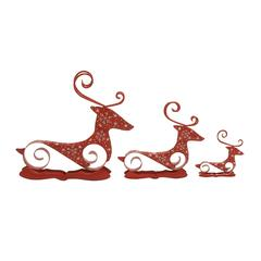 Magnificent Set Of 3 Metal Reindeer