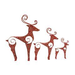 Benzara Superb Set Of 3 Metal Reindeer