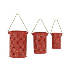 Adorable Set Of Three Metal Candle Lantern