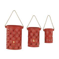 Charming Set Of 3 Metal Candle Lanterns