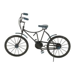 Benzara Sublime Metal Wood Cycle In Blue