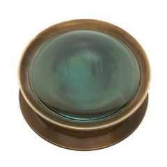 Benzara Riveting Brass Antiqued Magnifier