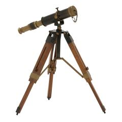 Artistic Brass Wood Telescope