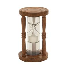 Charming Wood Glass Floating Sand Timer