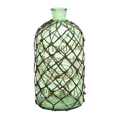 Benzara Contemporary Art Of Decorative And Netted Glass Bottle Vase