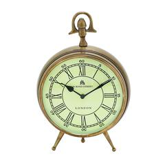 Bond Street Clock In Brass Finish