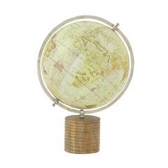 "Benzara Attractive Wood Metal Pvc Globe 12""W, 18""H"