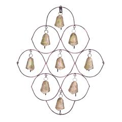 Unique Metal Bell Wall Plaque Featuring 9 Exclusive Bells