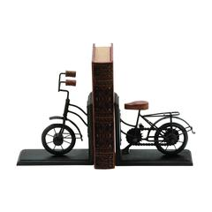 Benzara Bookend Pairmetal With Classic Cycle Design