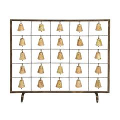 Bell Fireplace Screen Assemble Design With Multiple Bells