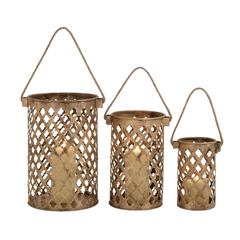 Benzara Classy Styled Attractive Metal Candle Lantern