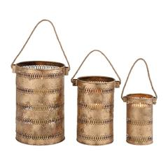 Benzara Contemporary Styled Metal Candle Lantern