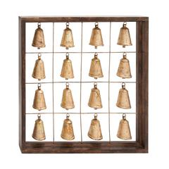 Benzara The Temple Wood Metal Bell Frame