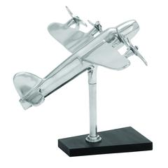 Benzara Whimsical Touch Aluminum Aeroplane Décor With Resplendent Shine