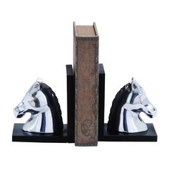 "Swanky 7"" Aluminum Horse Bookend In Contemporary Style"