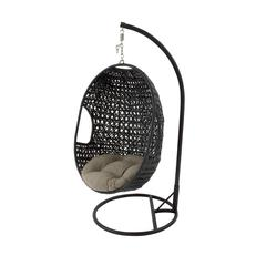 Benzara Attractive Metal Pe Rattan Pod Swing