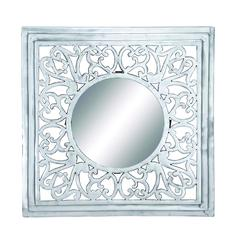 Benzara Wall Mirror With Smooth & Glossy Finish